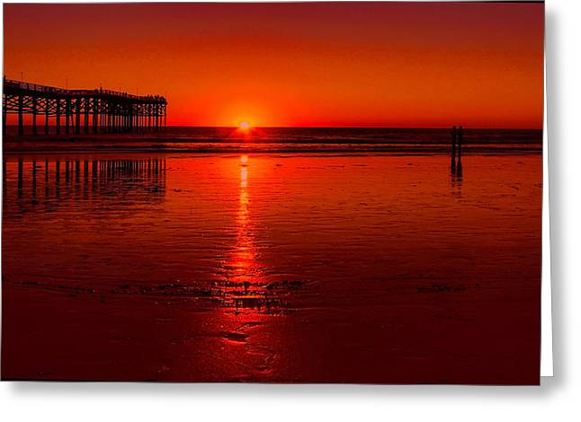 Pacific Beach Sunset Greeting Card