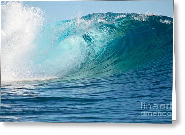 Pacific Big Wave Crashing Greeting Card by IPics Photography