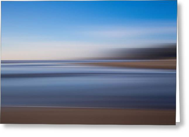 Greeting Card featuring the photograph Pacific Coast Abstract by Adam Mateo Fierro