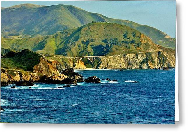 Pacific Coast Panorama Greeting Card