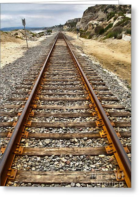 Pacific Coast Railroad Greeting Card