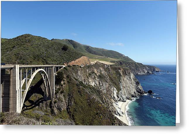 Pacific Coast Scenic Highway Bixby Bridge Greeting Card by Carol M Highsmith