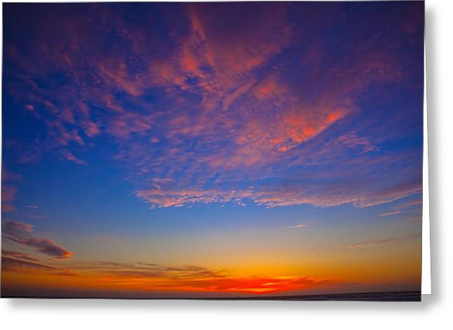 Pacific Coast Sunset Greeting Card by Garry Gay