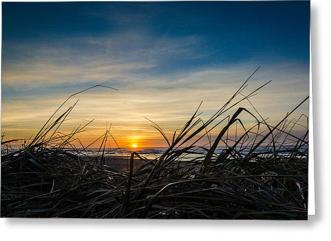 Pacific Coast Sunset Greeting Card by Puget  Exposure