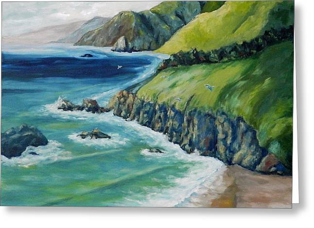 Pacific Coast Greeting Card by William Reed