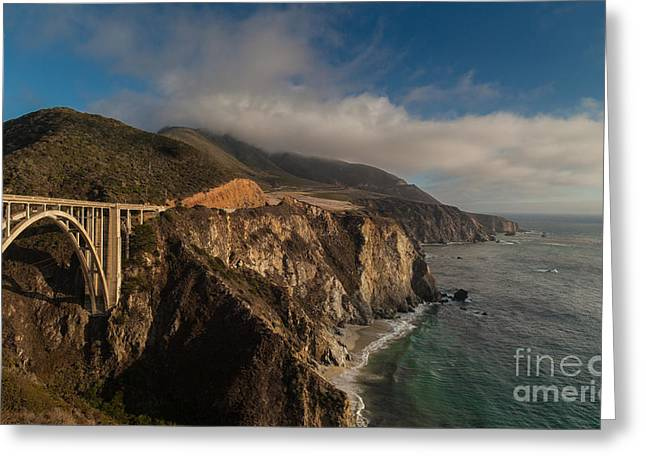 Pacific Coastal Highway Greeting Card by Mike Reid