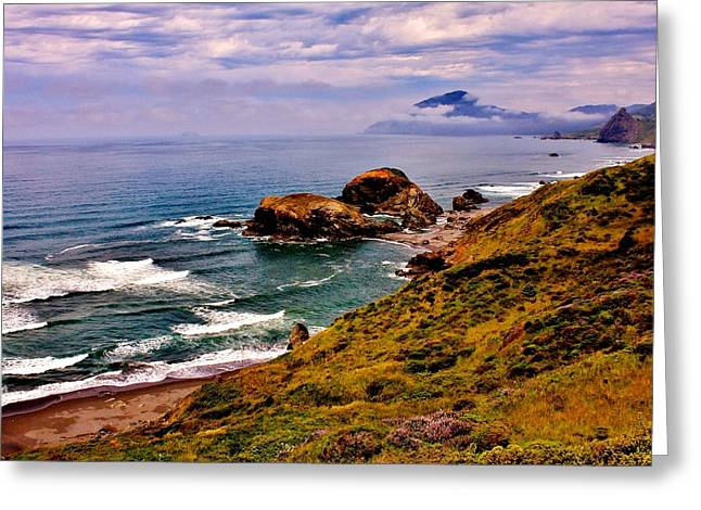 Pacific Coastline Greeting Card by Benjamin Yeager