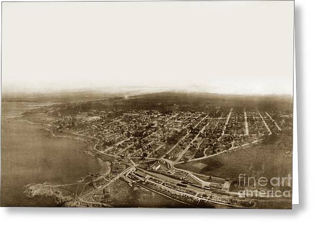 Pacific Grove 1200 From Feet Above Lovers Point And Monterey Bay 1906 Greeting Card