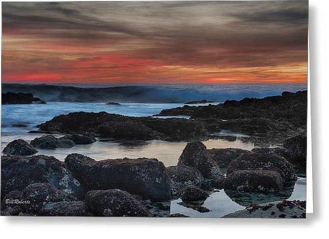 Pacific Grove Sunset Greeting Card by Bill Roberts