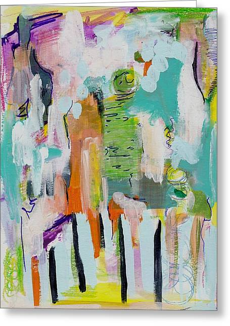 Pacific Island Abstract Greeting Card