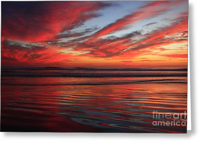 Greeting Card featuring the photograph Oceanside Reflections by John F Tsumas
