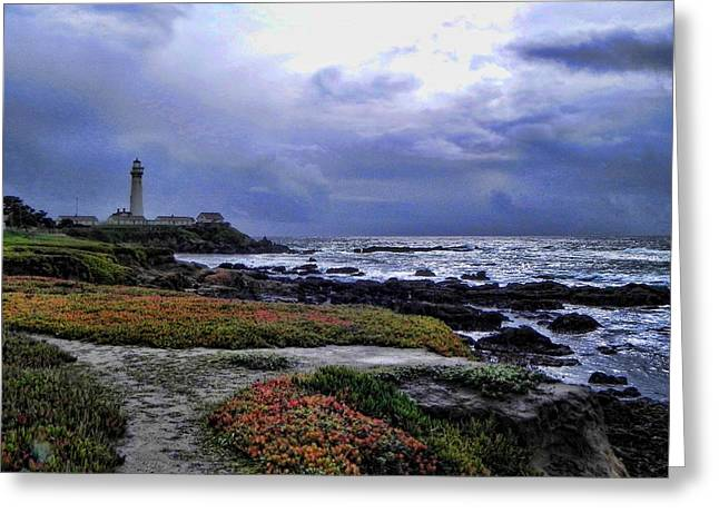 Greeting Card featuring the photograph Pacific Lighthouse by Kathy Churchman