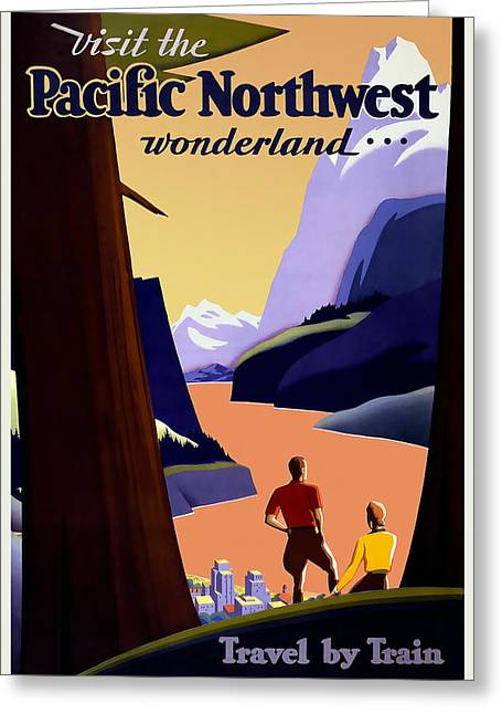Pacific Northwest By Train Greeting Card