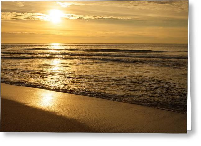 Pacific Ocean Sunset Greeting Card by Sheri Van Wert