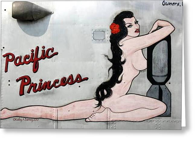 Pacific Princess Greeting Card by Kathy Barney