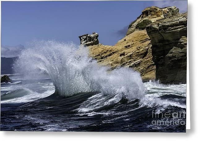Pacific Splash Greeting Card by Tim Moore