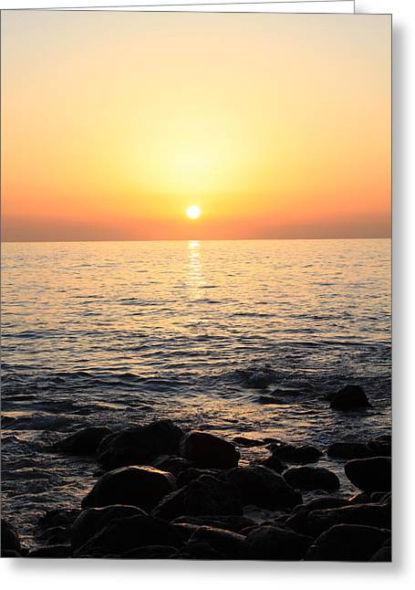Pacific Sunrise Greeting Card by Ashley Balkan