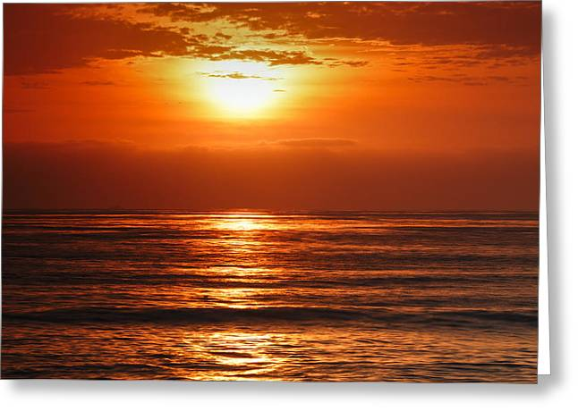 Pacific Sunset @ Point Loma Greeting Card by Photography  By Sai