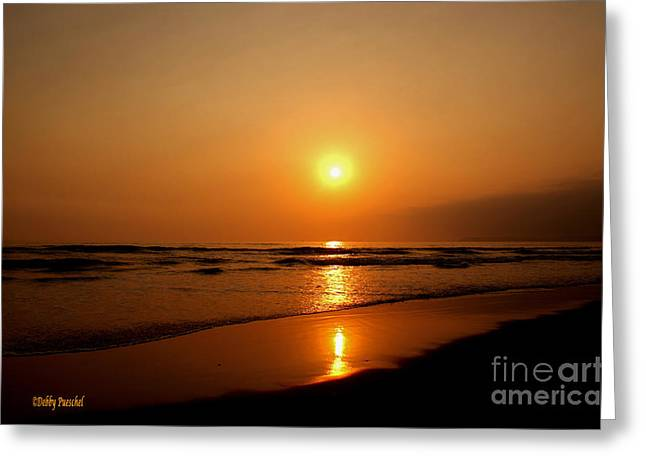 Pacific Sunset Reflection Greeting Card