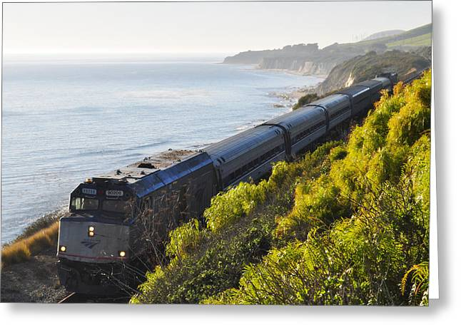 Pacific Surfliner Along The Central Coast Greeting Card