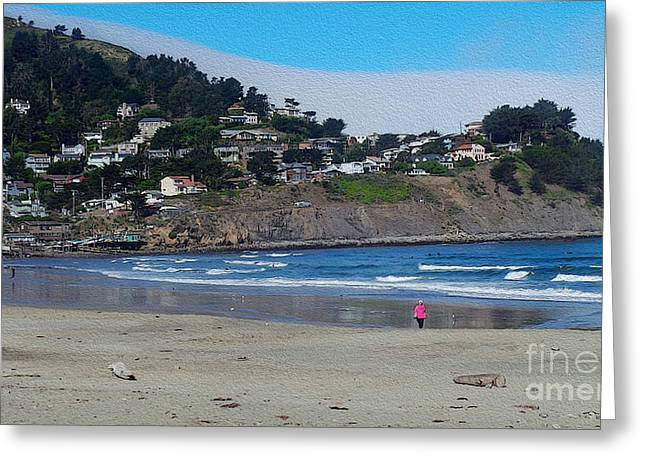Pacifica Morning Greeting Card by David Bearden