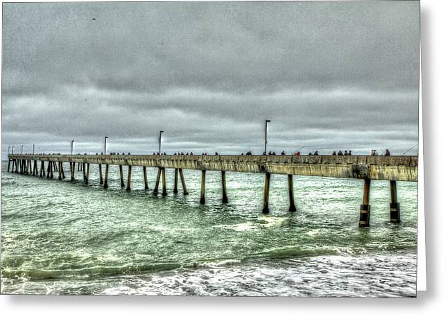 Pacifica Municipal Fishing Pier 7 Greeting Card
