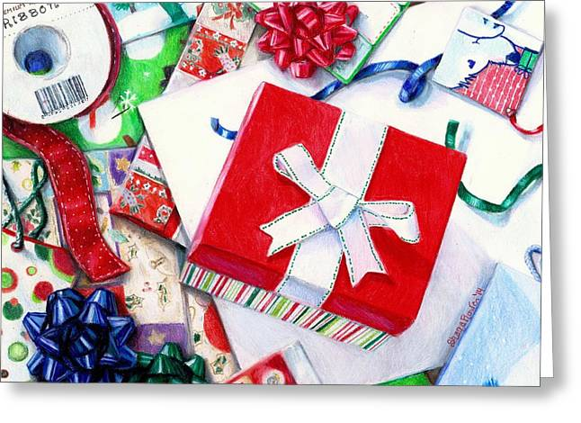Packages Boxes And Bags Greeting Card by Shana Rowe Jackson
