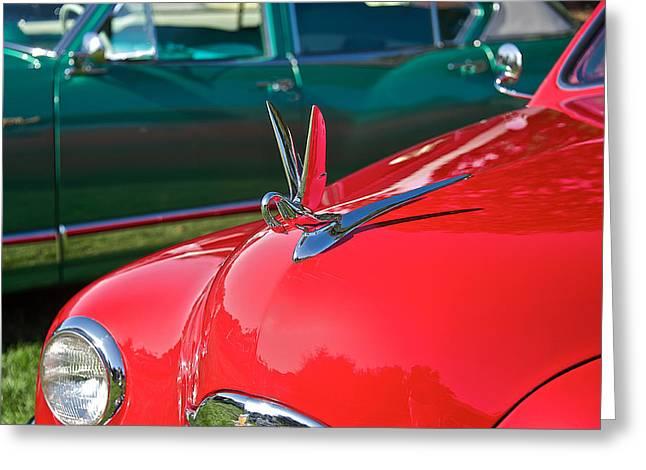 Packard Hood Ornament 6 Greeting Card
