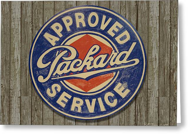 Packard Sign Greeting Card by Bill Jonas