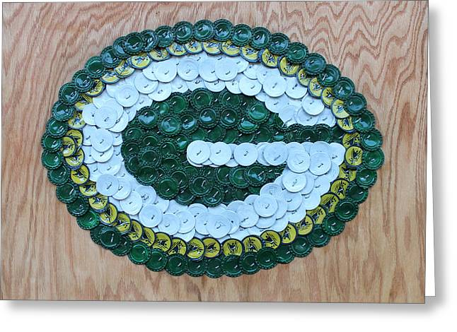 Packers Greeting Card by Kay Galloway