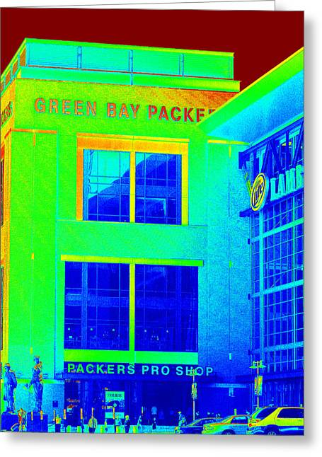 Packers Pro Shop Greeting Card by Kay Novy