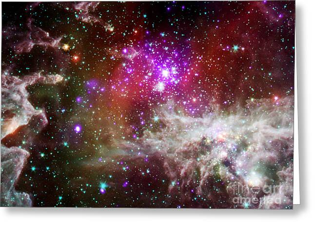 Pacman Nebula Greeting Card by Science Source