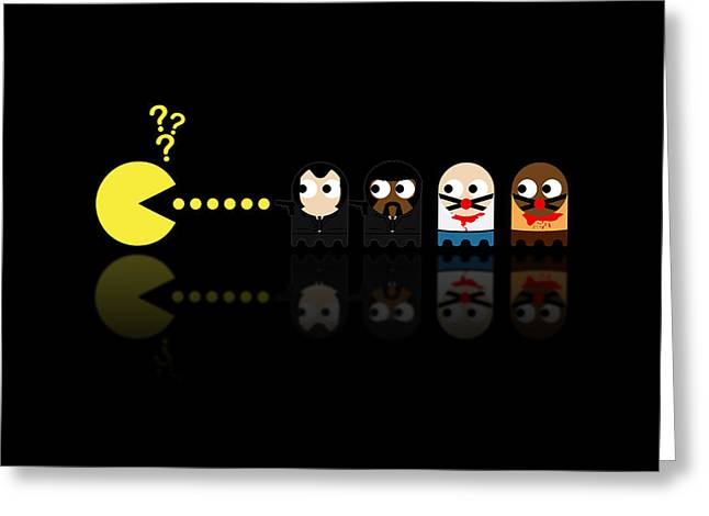 Pacman Pulp Fiction Greeting Card by NicoWriter