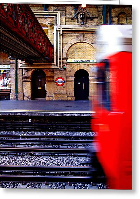 Paddington Station Tube Greeting Card
