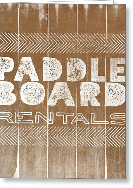 Paddle Board Rentals Greeting Card