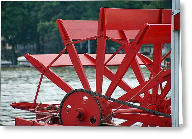 Paddle Boat Greeting Card by Thomas Fouch