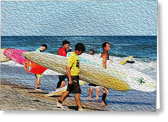 Paddle Out  Greeting Card by William Love