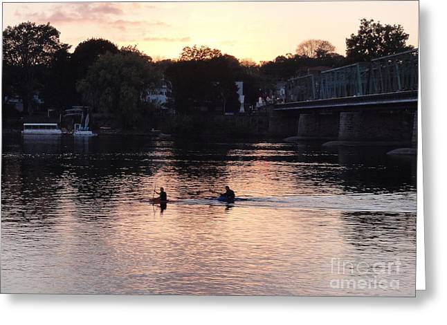 Paddling For Home Greeting Card
