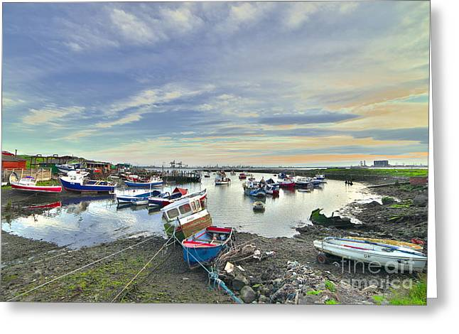 Paddy's Hole South Gare Teesside Greeting Card