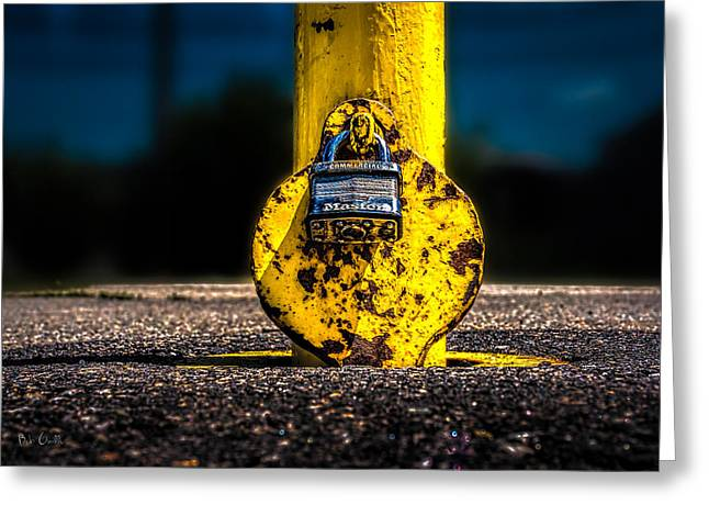 Padlock Number Two Greeting Card by Bob Orsillo