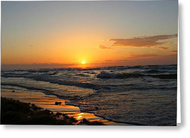 Greeting Card featuring the photograph Padre Sunrise by Candice Trimble