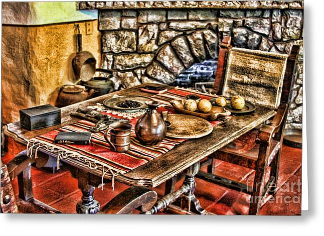 Padre's Table By Diana Sainz Greeting Card