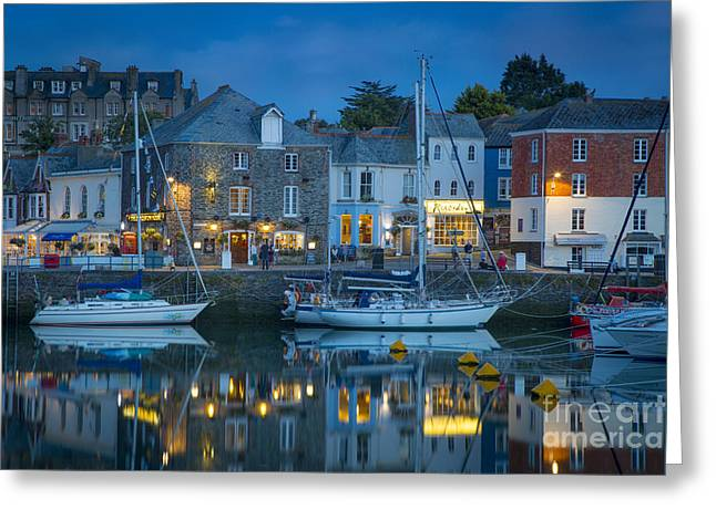 Padstow Twilight Greeting Card