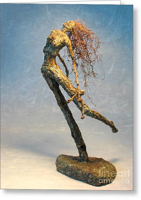 Paean From The Syrinxes A Sculpture Greeting Card