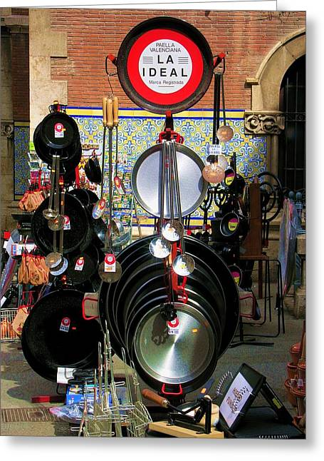 Paella Valenciana Cookware Greeting Card by Jacqueline M Lewis