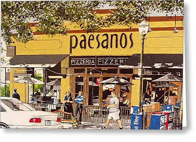 Paesanos Greeting Card by Paul Guyer