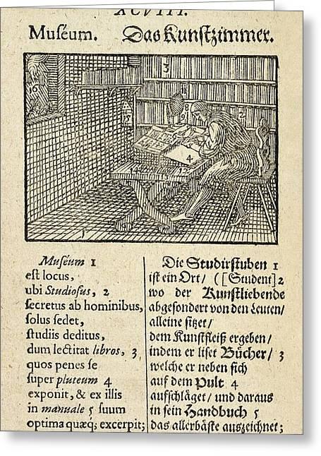Page From 'orbis Sensualium Pictus' Greeting Card