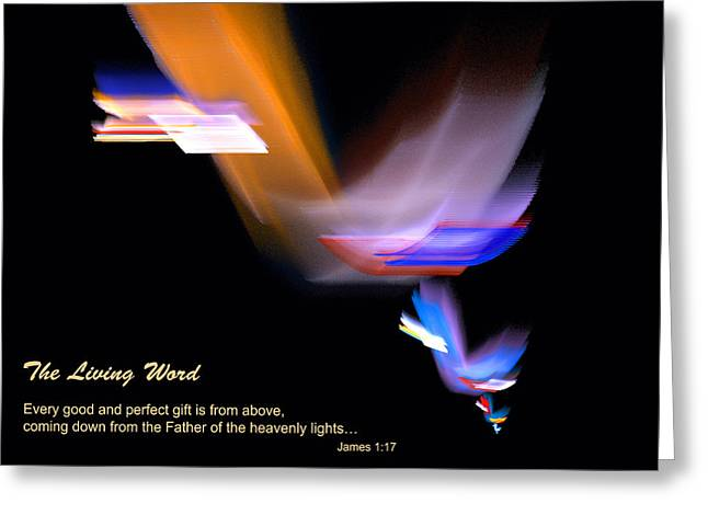Greeting Card featuring the digital art Pages From Heaven by R Thomas Brass