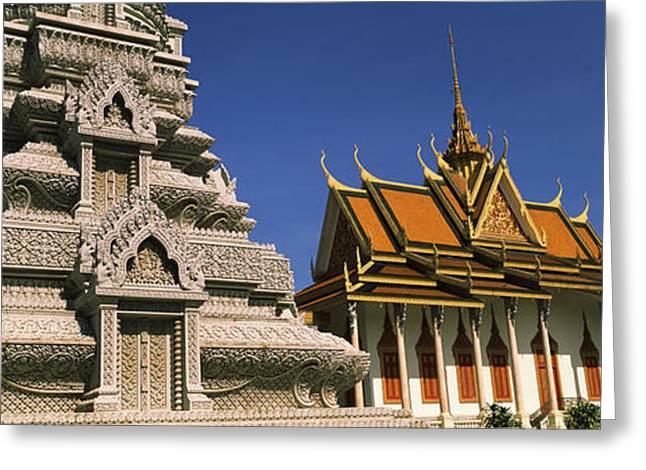 Pagoda Near A Palace, Silver Pagoda Greeting Card