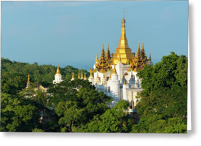Pagoda On Sagaing Hill, Mandalay Greeting Card by Keren Su